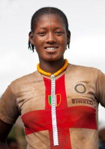 Ethiopia, Omo Valley, Darashe, Darashe Tribe Girl
